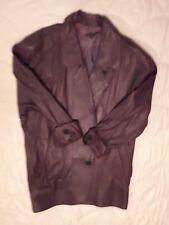 Lederjacke lang dunkellila handschuhweich Gr. 42 raffinierter Schnitt