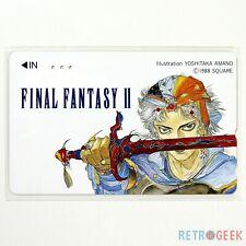 Telecard Final Fantasy II Famicom Phone Telephone Card [JAP] Square VGC