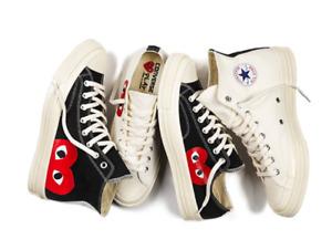 Comme Des Garcons  Chuck Taylor Hi Low Tops White Black Shoes