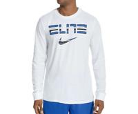 Nike T Shirt Mens XL White Authentic DriFit Air Elite Basketball Long Sleeve Tee