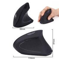 Souris optique ergonomique verticale sans fil 2.4G + récepteur USB N8H9