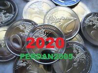 2 EURO 2020 COMMEMORATIVI TUTTI GLI STATI ALLE LÄNDER MALTA VATICANO ANDORRA