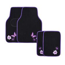 Car Pass Car Floor Mats Purple Universal Fit Embroidery Butterfly And Flower Fits 2003 Honda Pilot