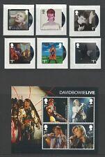 David Bowie 2017 Royal Mail presentation pack 6 zegels plus vel van 4 zegels