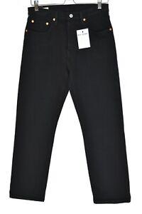 Womens Levis 501 High Rise Straight Leg PREMIUM Black Crop Jeans Size 10 W28 L26