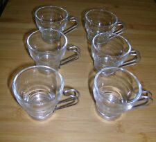 Set di 6 COPPE ITALIANO vitrosan/Bicchieri Caffè ESPRESSO Tè Caffè impugnature in metallo