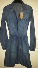 ESPRIT DENIM DRESS SIZE 8/10 BRAND NEW 100%COTTON
