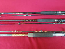 3 SPINNING REEL RODS 2 - 7' AND  1 - 8' RODS  ALL FOR 1 MONEY