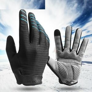 Gloves Cycling Gel Pad Long Sport MTB Bike Touch Screen Shockproof Full Finger
