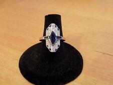 Art Deco 18k white gold sapphire diamond ring with appraisal $1750.00