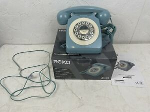 Reka Retro Corded Home Phone & Mechanical Bell Ringer With Phone Cable N844