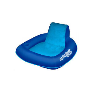 SwimWays Spring Float SunSeat Floating Inflatable Swimming Pool Lounge Chair