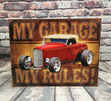 My Garage / My Rules! Metal Sign for, Garage, or Bar or All American Man Cave