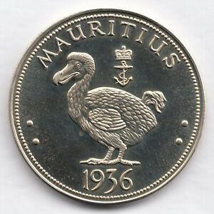 Mauritius Edward VIII 1936 Crown Cupronickel 38 mm