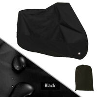 Waterproof Motorbike Dustproof Cover Weather Protector Storage Shelter M Black