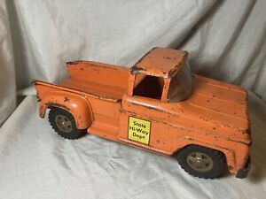 Vintage 1960's Tonka State Hi-Way Dept. Stepside Pickup Truck  Parts or Repair