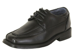 Joseph Allen Toddler Boy's Black Dress Oxfords Shoes