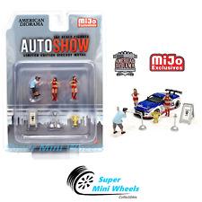American Diorama 1:64 Auto Show Figures 6pcs Set Die Cast Metal - Mijo Exclusive