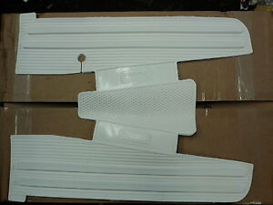 Vespa PX PE LML White Rubber Floor Mat Italian Made...
