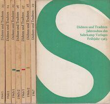 Suhrkamp-Verlag: Dichten und Trachten (Konvolut v.8 Heften)  1963-1967
