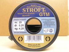 STROFT Vorfachmaterial GTM 25 Meterspule  0,20mm Durchmesser  Tragkraft 4,2kg