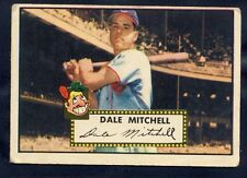 1952 Topps Dale Mitchell #92 VG (Red Back)