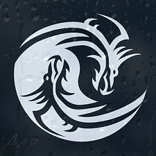 Ying Yang Dragons Car Or Laptop Decal Vinyl Sticker For Panel Window Bumper