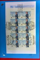 2000 ROYAL VISIT FIRST DAY COVER SHEETLET OF 10  NATIONAL 5 PICTORIAL POSTMARK