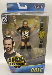 WWE ELITE FAN TAKEOVER ADAM COLE FIGURE NXT BELT UNDISPUTED ERA AEW BAY BAY