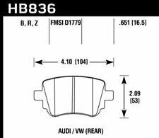 Hawk Disc Rear Brake Pad for 16-17 Volkswagen Golf # HB836B.651