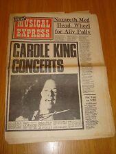 NME 1973 JUNE 30 CAROLE KING NAZARETH MEDICINE HEAD CURVED AIR STEALERS WHEEL