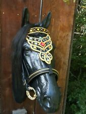 Medieval Baroque Horse Bridle Faceplate handmade beaded / embroidered #2