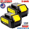 2X For Dewalt DCB204 20V 20 Volt Battery Max XR 4Ah Lithium DCB205 DCB203 DCD785