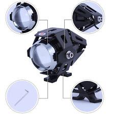 1pair125W 3000LM Moto U5 LEDMotorcycle Headlight spotlight  Spot auxiliary Lamp