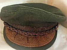 GREEK FISHERMAN CAP Hat Brown WOOL Made in Greece Aegean  58 - 7 1/4