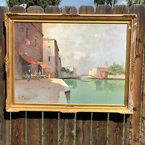 Vintage Aldo Marangoni Original Venice painting on canvas