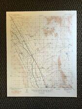 Vintage USGS La Mesa New Mexico Texas 1943 Topographic Map 1949