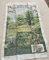 Vintage Linen Tea Towel The Savill Garden Windsor Great Park Irish Linen England