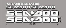 "SEA-DOO 3D Logo / WHITE / 26"" Vinyl Personal Watercraft Replacement Bonus Decals"