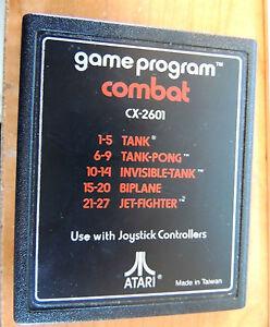 CX-2601 - COMBAT (TANK - TANK PONG - BIPLANE) (ATARI 2600) GAME CARTRIDGE ONLY
