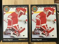CHRIS OSGOOD 2X 1993-94 Score Pinnacle Detroit Red Wings