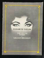 47-the little foxes by lillian hellman, souvenir program, elizabeth taylor