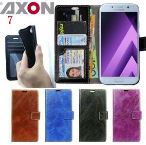 Premium Axon 7 Case Wallet Money Card Leather Case Cover For ZTE Anti Scratch AU