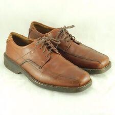 Ecco Brown Leather Oxfords Men's Size EUR 41 Dress Casual Comfort Shoes
