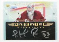 2003-04 UD Premier Collection Signatures #PSPR Patrick Roy