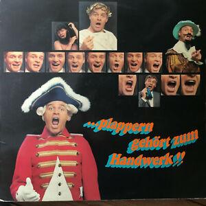 Münchner Lach- Schiessgesellschaft plappern gehört z Handwerk  Vinyl LP F5