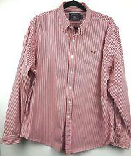 American Living Mens Cotton Long Sleeve Striped Button Down Shirt Size XL