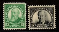 US Stamps: 622-623 Mint, original gum, Never Hinged (cv$38.00)