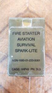 Fire Starter Aviation Survival Spark-Lite Waterproof Tinder no Lighter green
