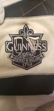 Guinness Ireland Rugby Shirt. Cream and Black Stripes, Cotton.( Xl) Official Nwt
